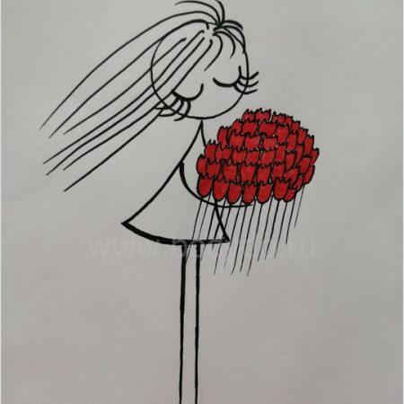 Ailisa девочка с цветами