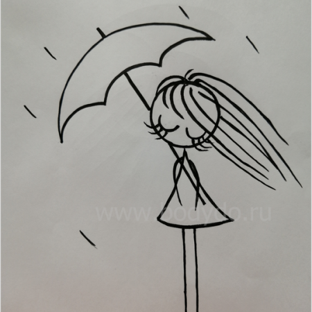 Ailisa девочка и дождь